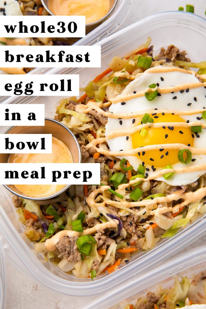 Egg Roll in a Bowl Meal Prep Pinterest Graphic
