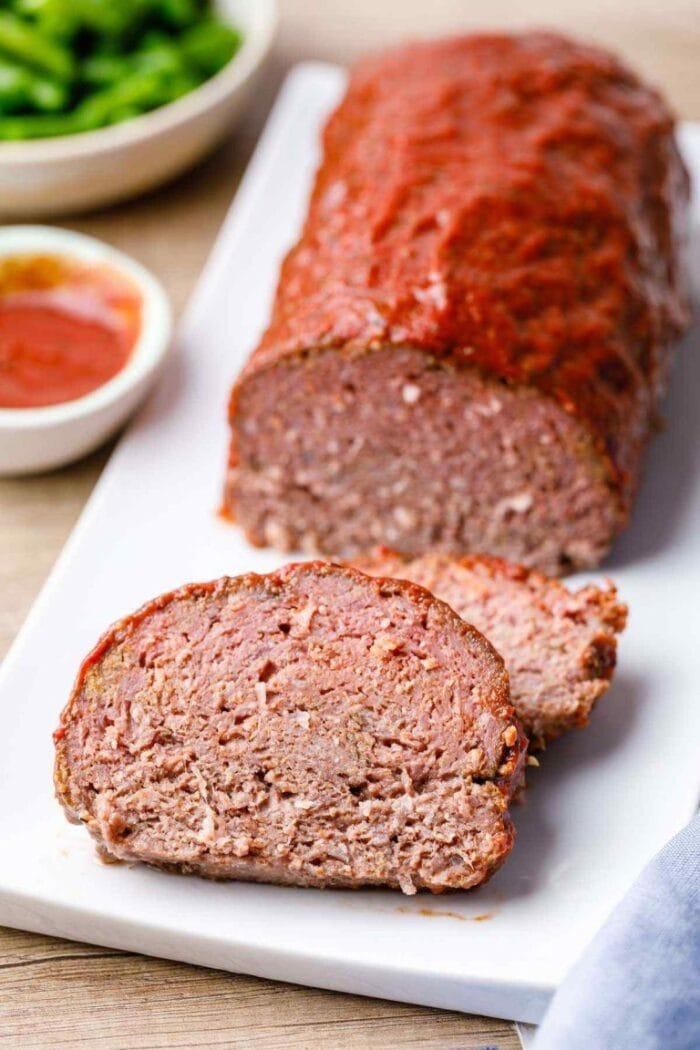 Keto slow cooker meatloaf