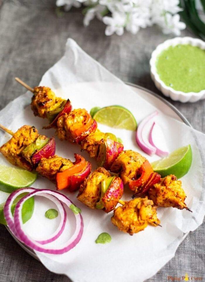 2 chicken tikka masala kebabs