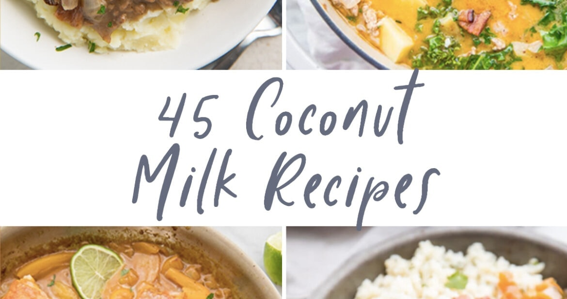 Graphic for 45 coconut milk recipes