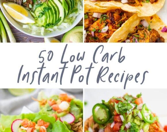 50 low carb Instant Pot recipes graphic