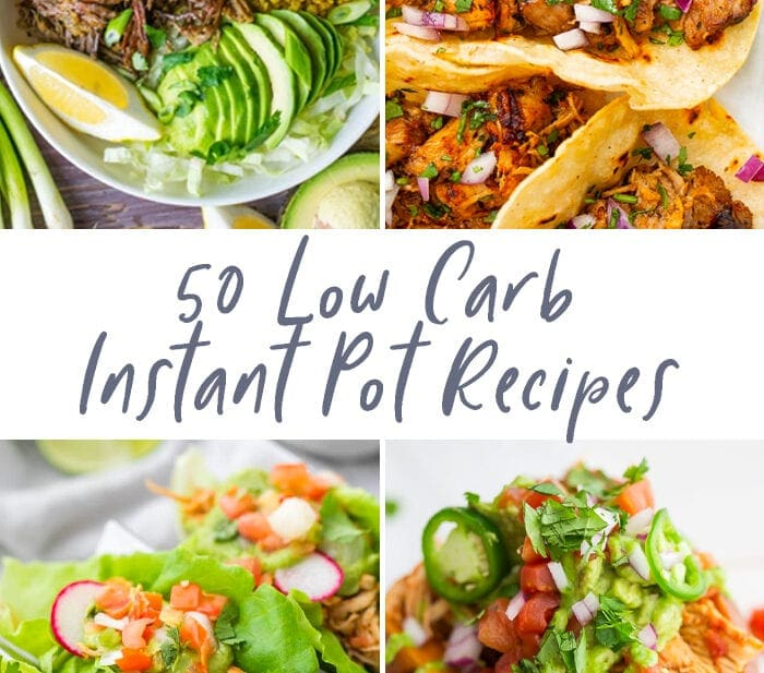 50 low carb Instant Pot recipes graphic