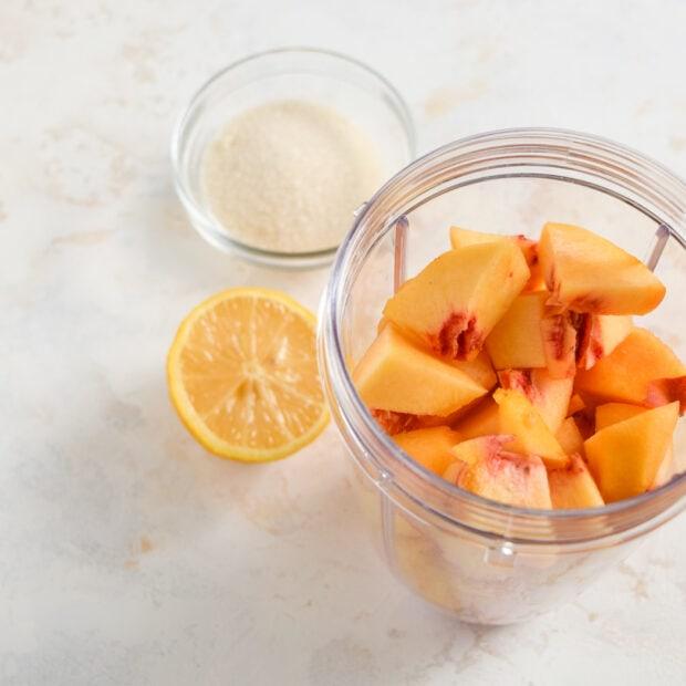 Peach Bellinis Step 1