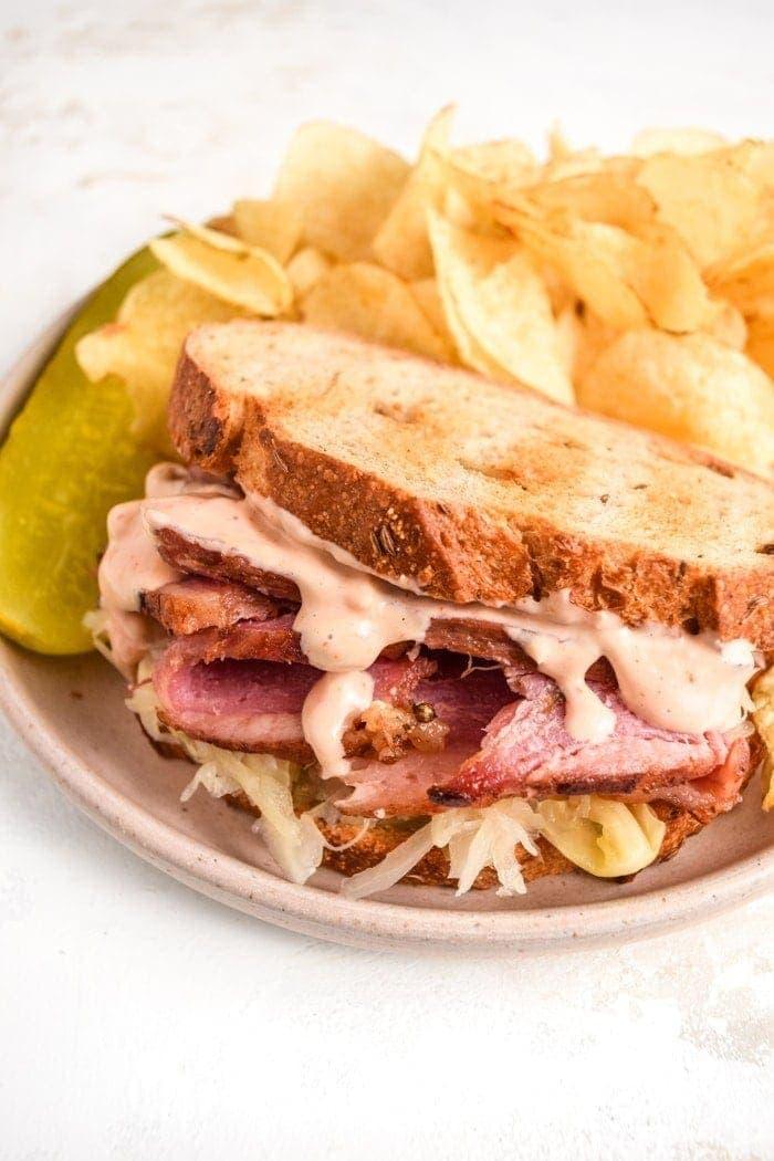 Corned Beef Sandwich Close-Up