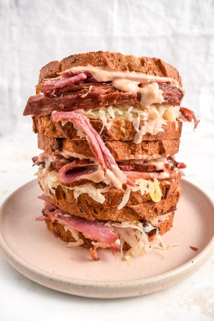 Corned Beef Sandwich Stack