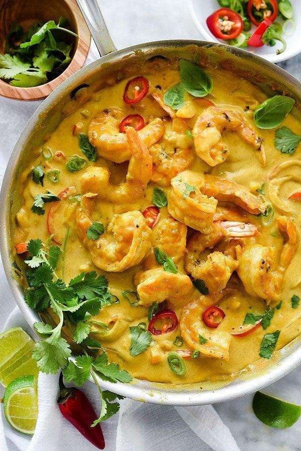Thai coconut milk shrimp