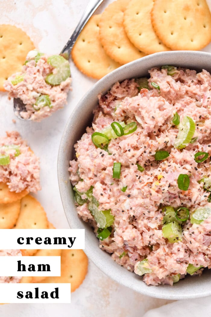 Pinterest graphic for ham salad