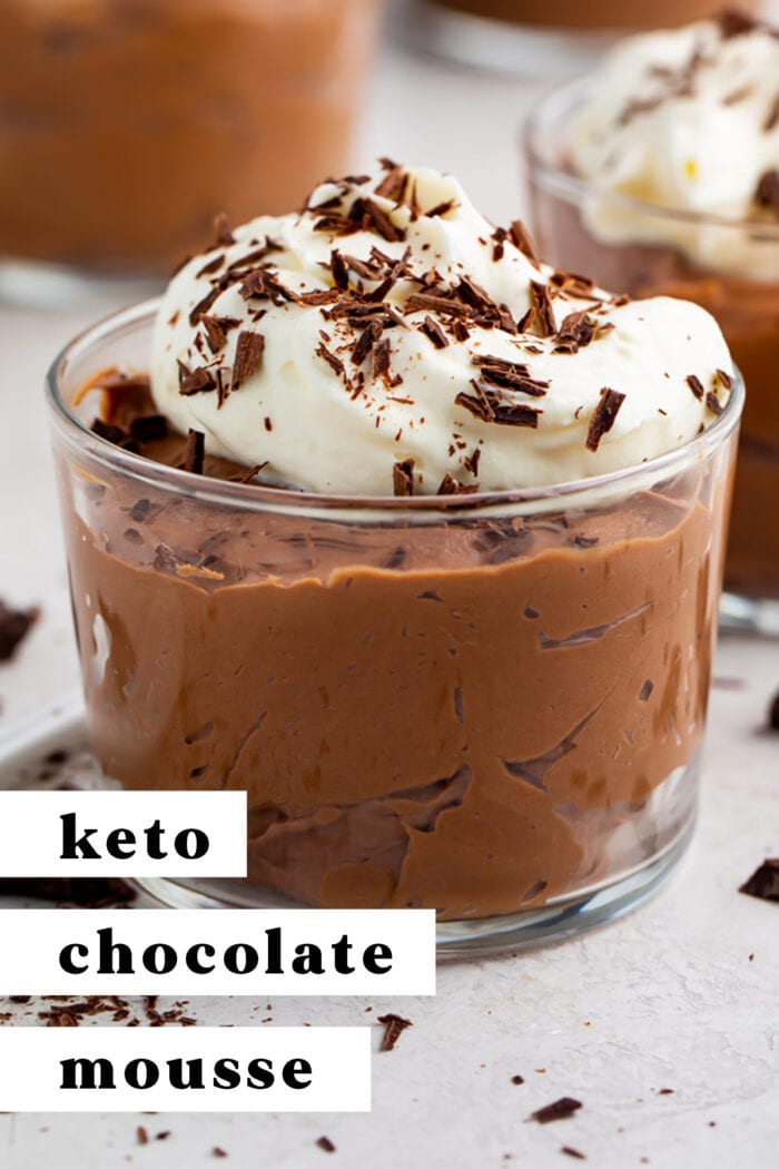 Pinterest graphic for keto chocolate mousse