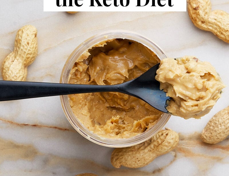 Peanut butter and keto graphic