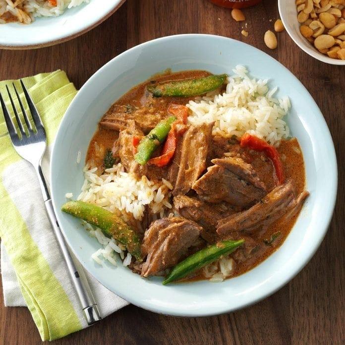 Coconut thai beef