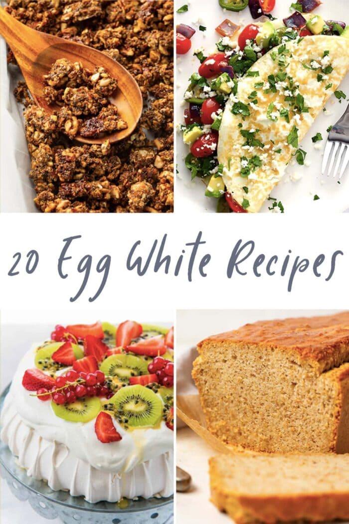 20 egg white recipes graphic