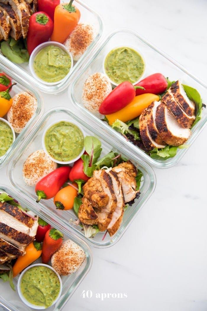 Healthy Mexican chicken meal prep recipe