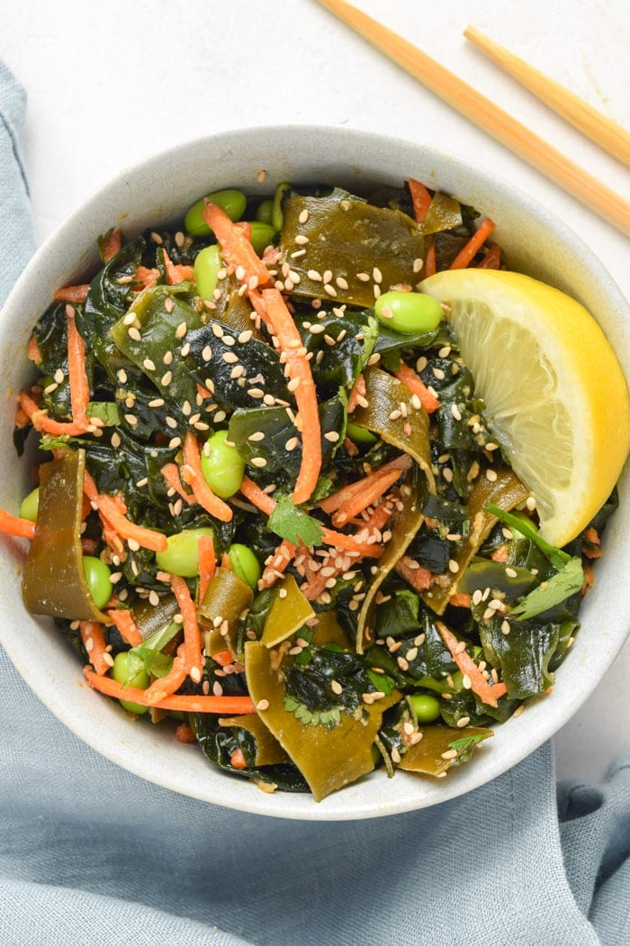 Seaweed Salad Overhead Shot