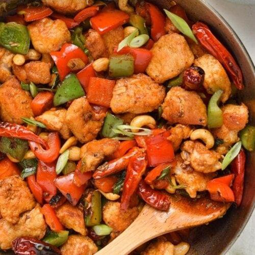 Szechuan Chicken in Skillet