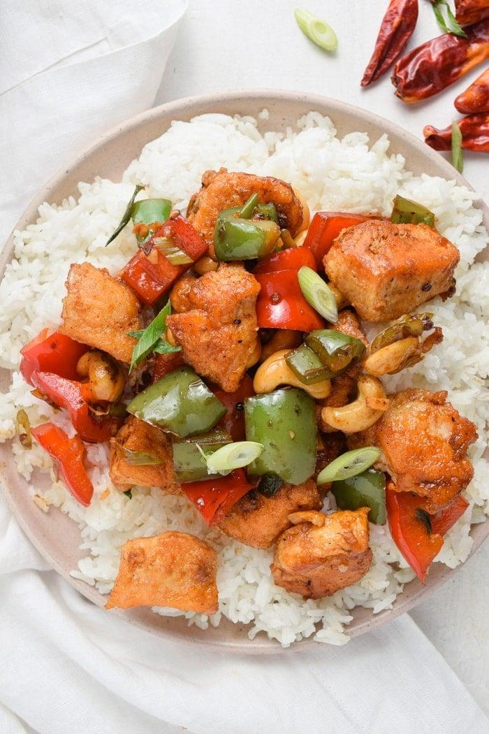 Szechuan Chicken Over Rice