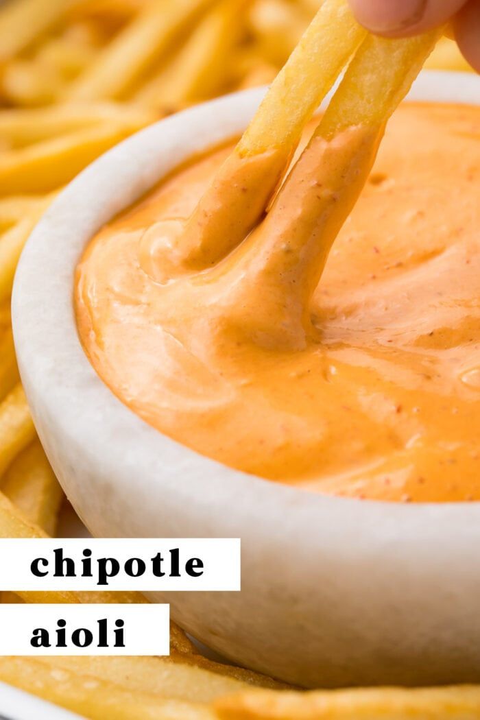 Pinterest graphic for chipotle aioli