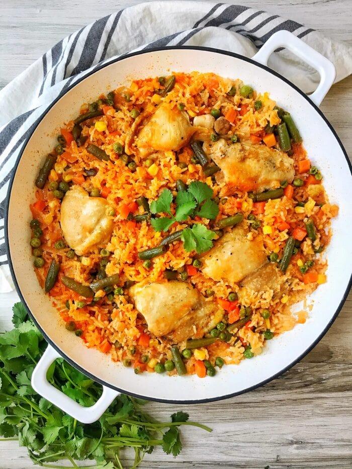 Arroz con pollo from Dash of Color and Spice