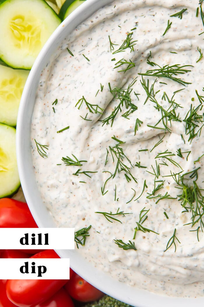 Pin graphic for dill dip