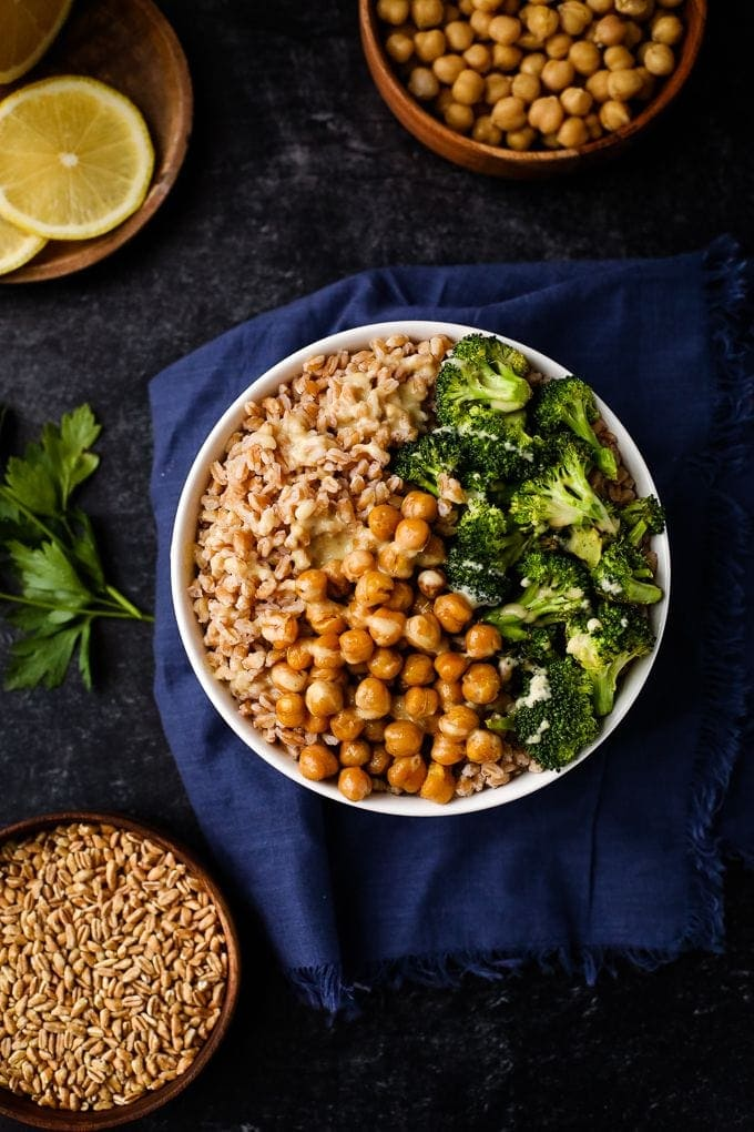 Farro grain bowl recipe