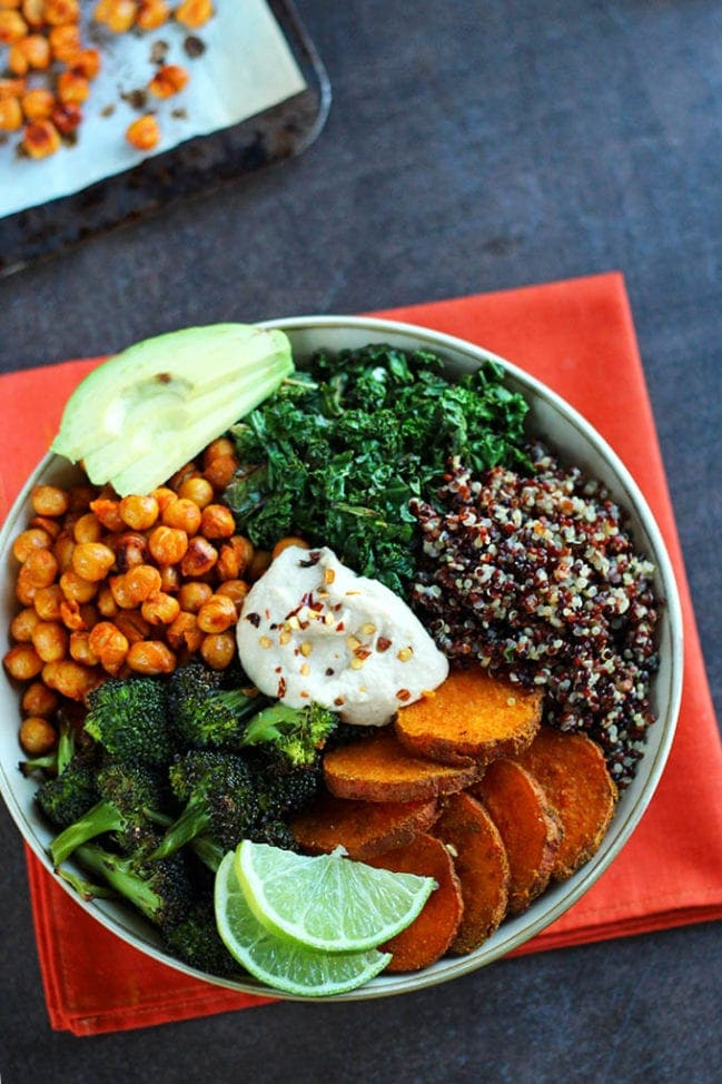 Roasted veggies and quinoa bowl