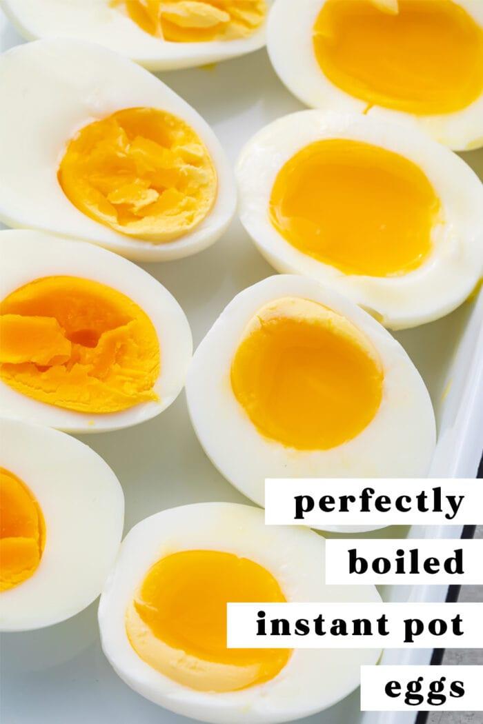 Pinterest graphic for Instant Pot eggs