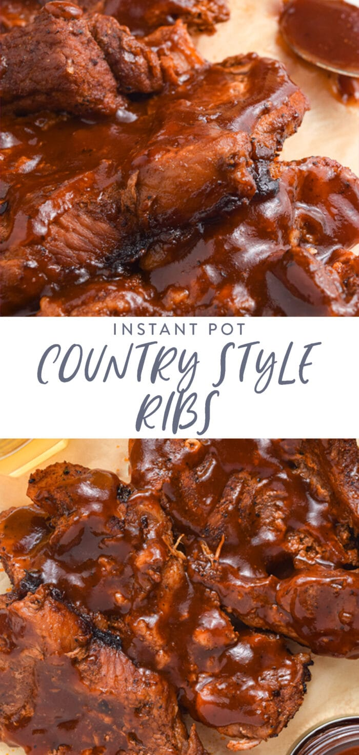 Instant Pot country style ribs pin
