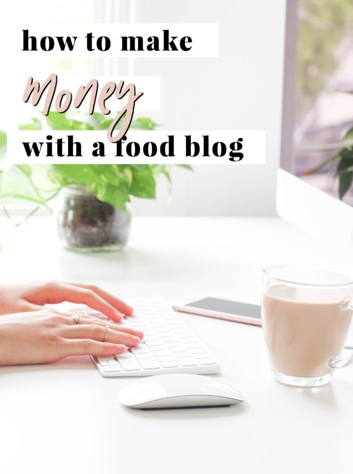 Graphic for how to make money with a food blog