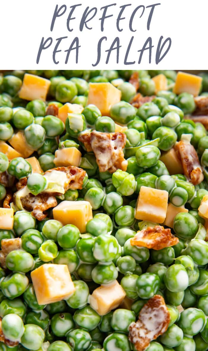 Pinterest graphic for pea salad