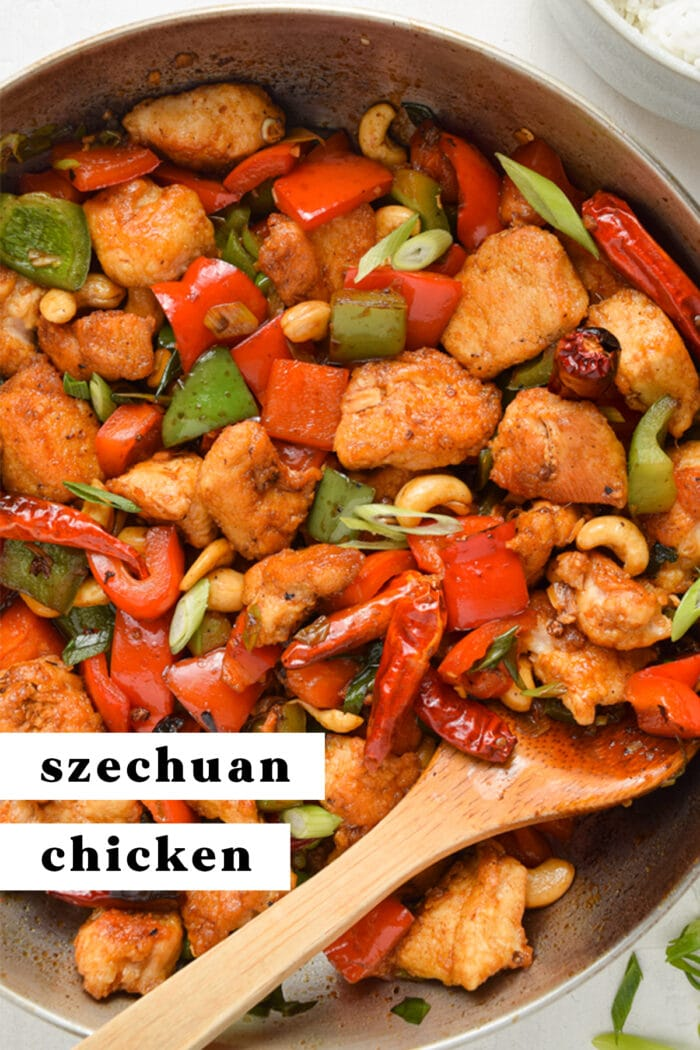 Pin graphic for Szechuan chicken