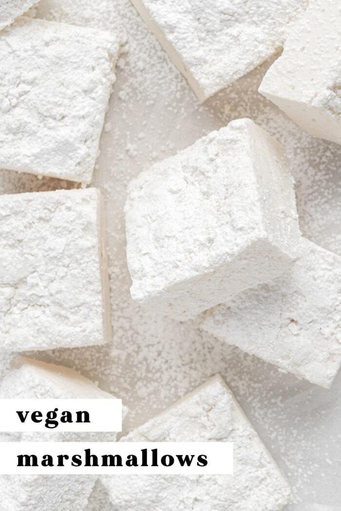 Pin graphic for vegan marshmallows