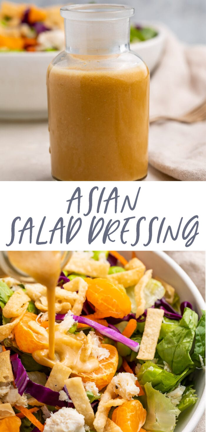 Pin graphic for Asian salad dressing