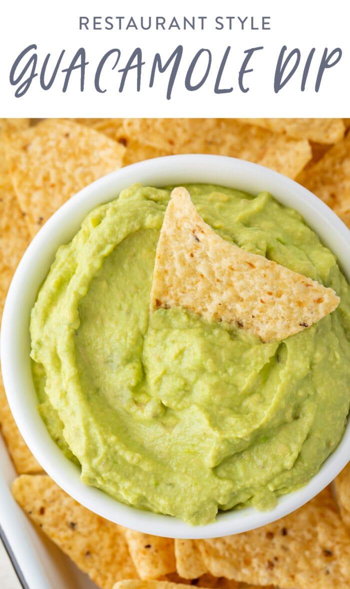 Pin graphic for guacamole dip