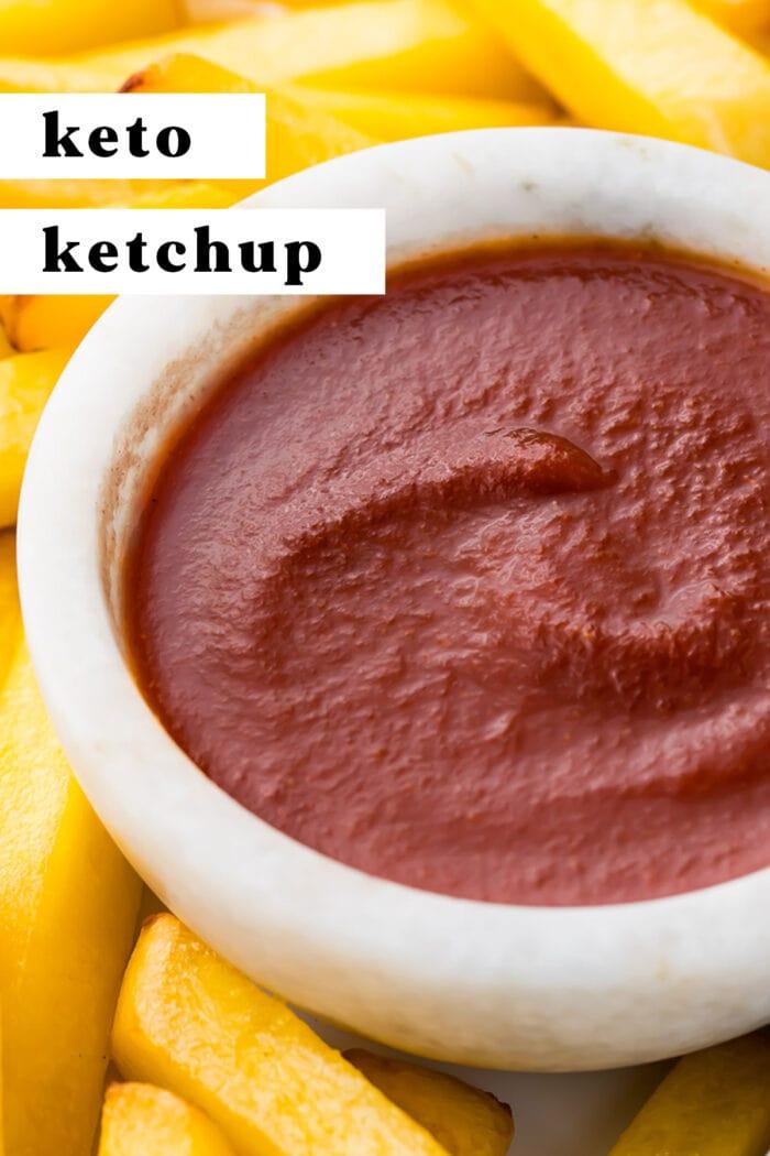 Pin graphic for keto ketchup