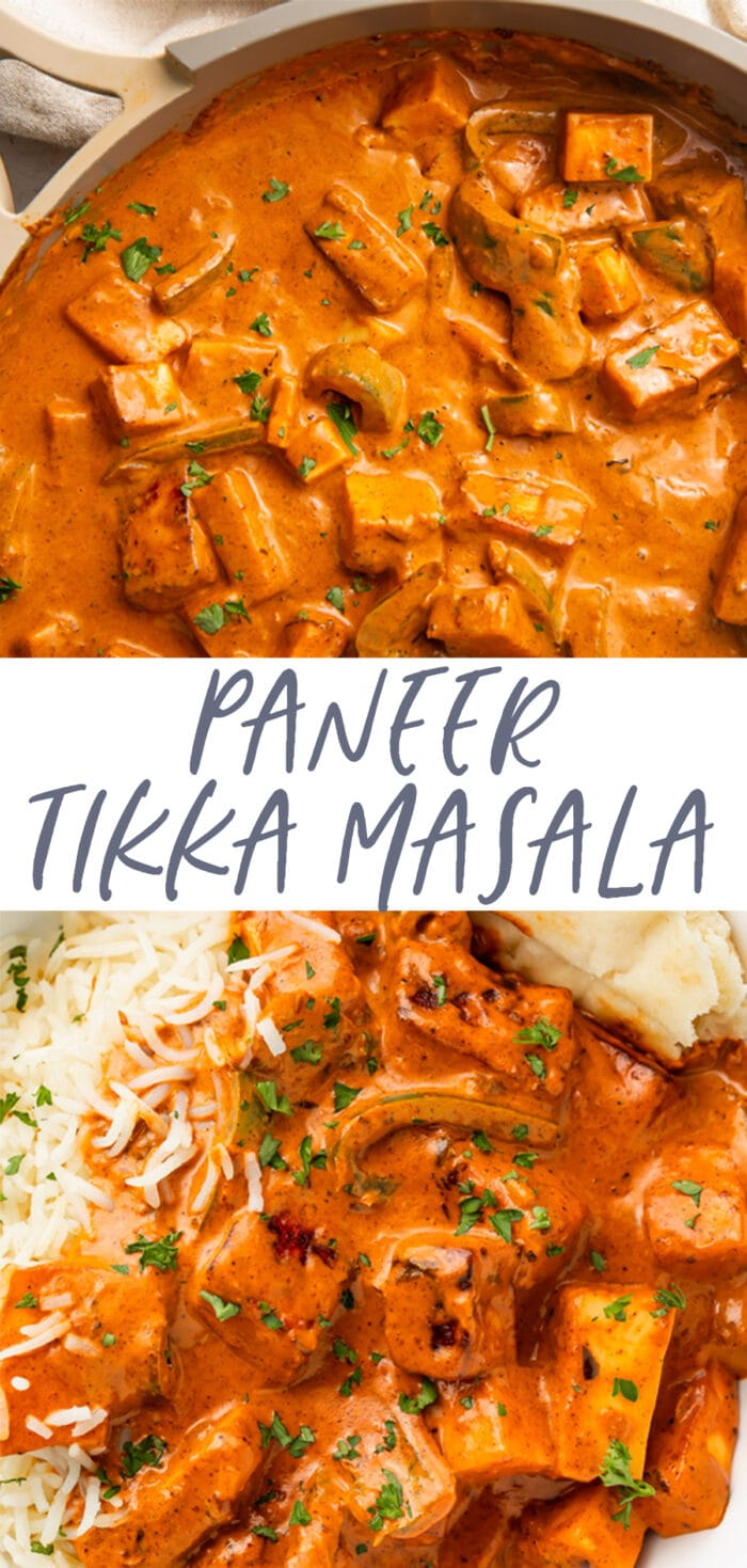 Pin graphic for paneer tikka masala