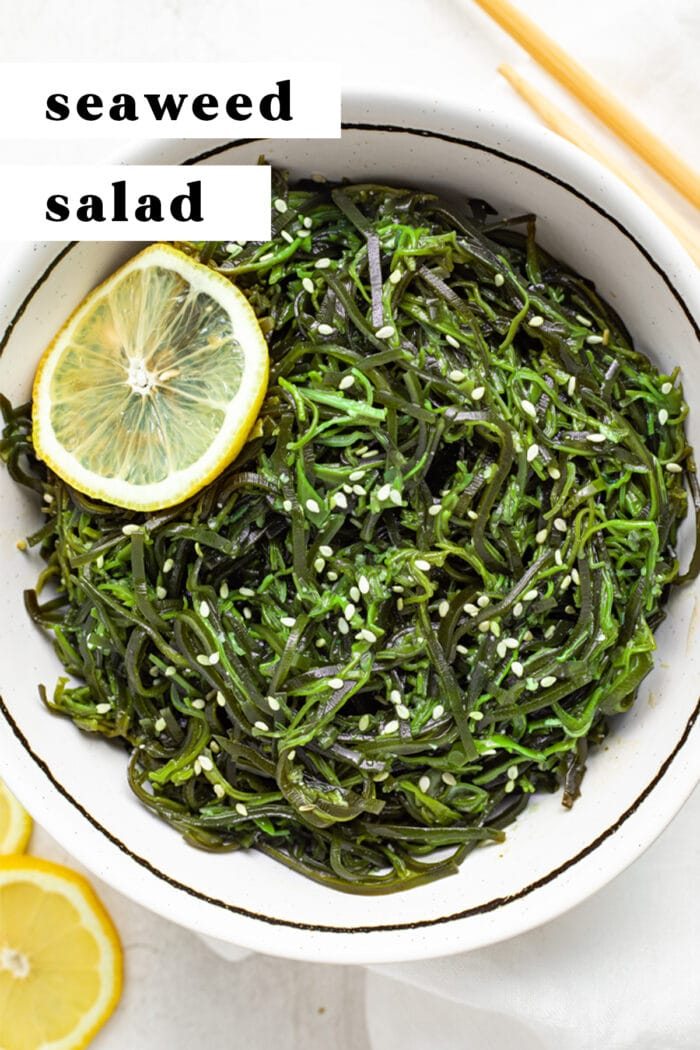 Pin graphic for seaweed salad