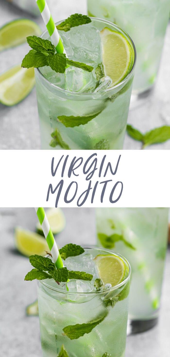 Pin graphic for virgin mojito