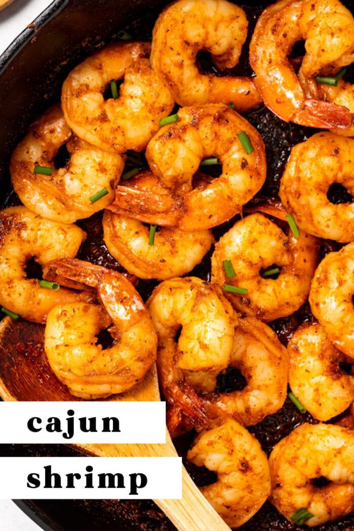 Pin graphic for cajun shrimp