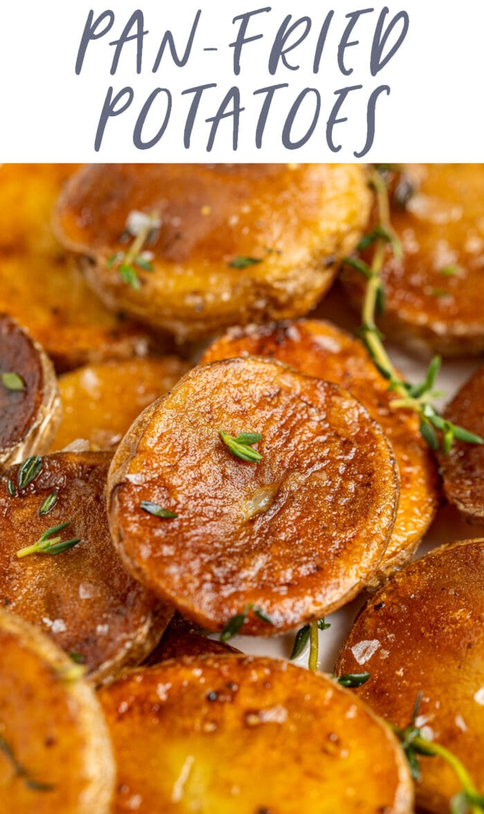 Pin graphic for fried potatoes