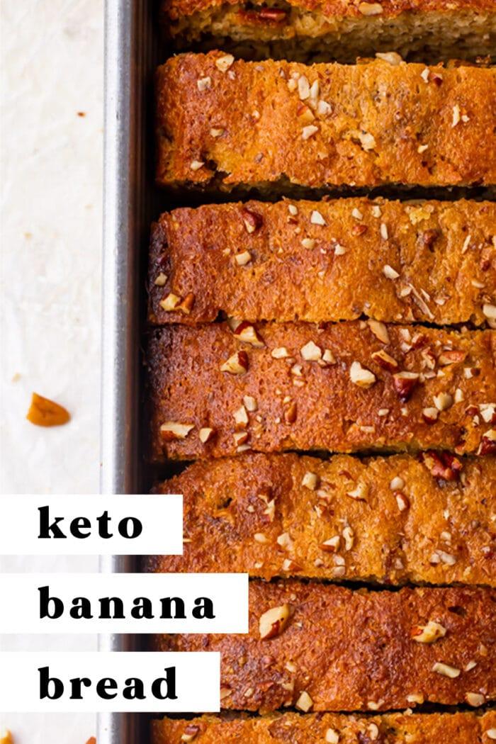 Pin graphic for keto banana bread