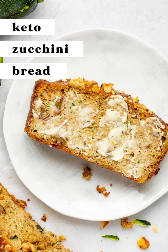Pin graphic for keto zucchini bread