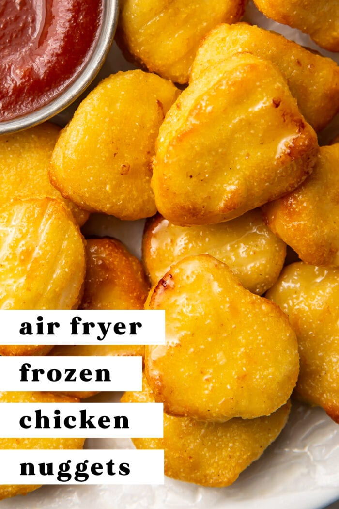 Pin graphics for air fryer frozen chicken nuggets