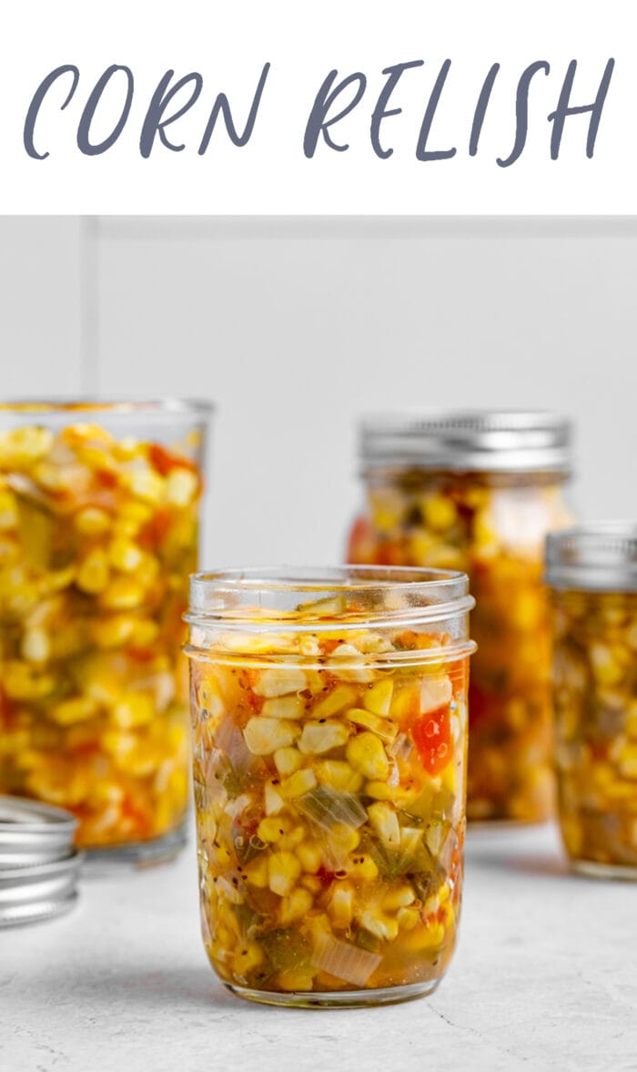 Pin graphic for corn relish