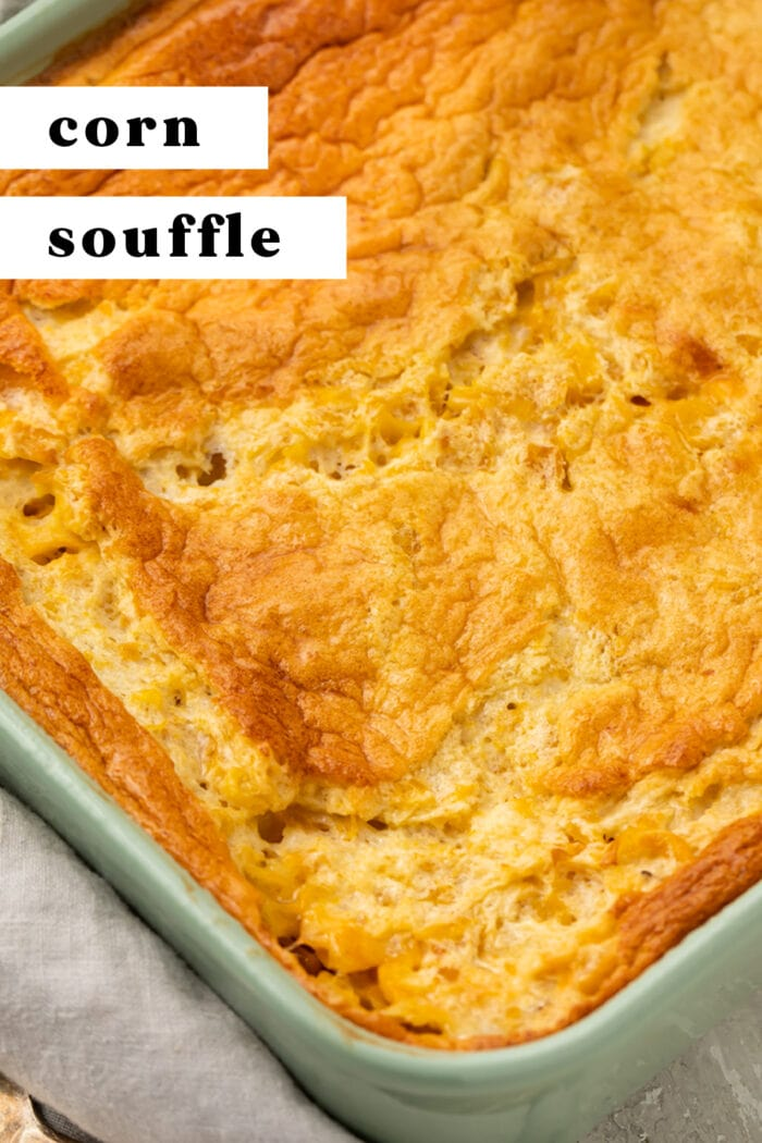 Pin graphic for corn souffle