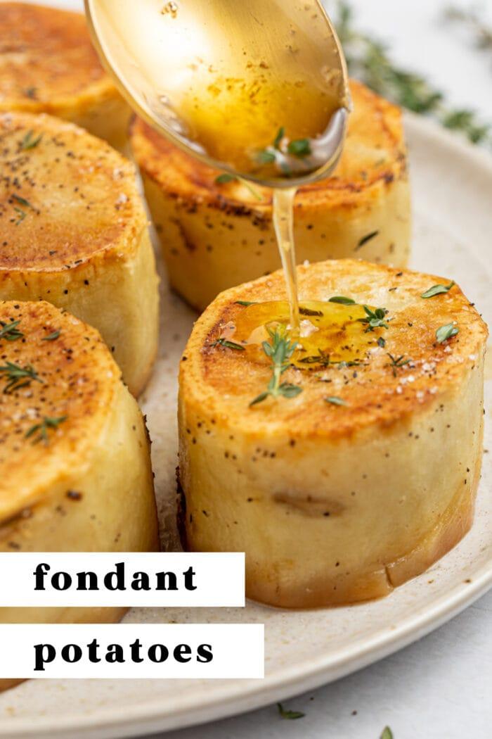 Pin graphic for fondant potatoes