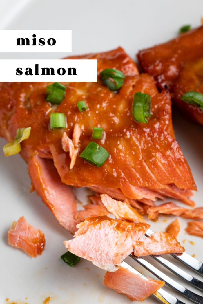 Pin graphic for miso salmon
