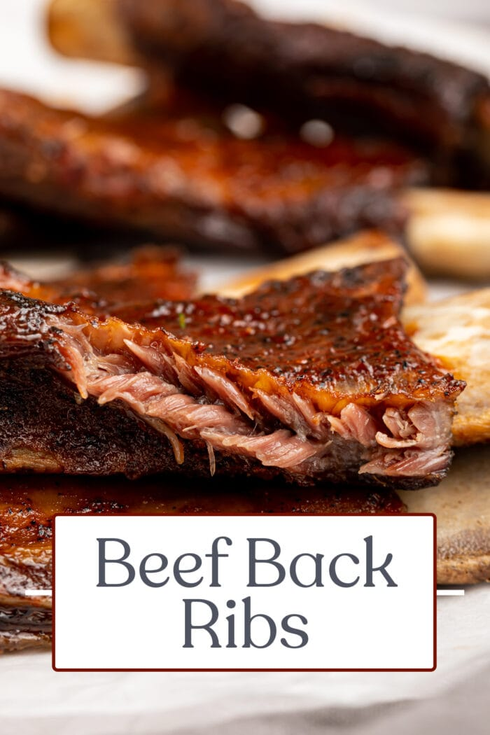 Pin graphic for beef back ribs