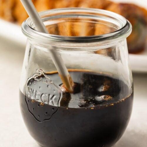 Eel sauce in a jar