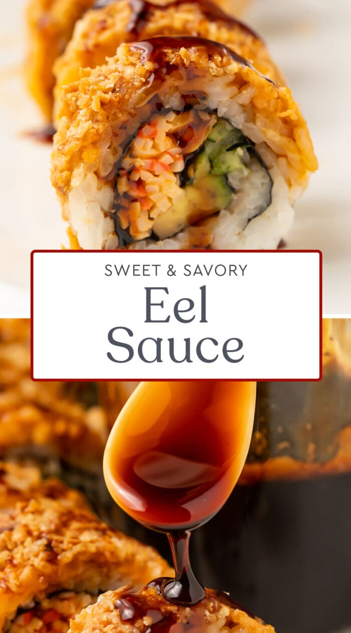Pin graphic for eel sauce