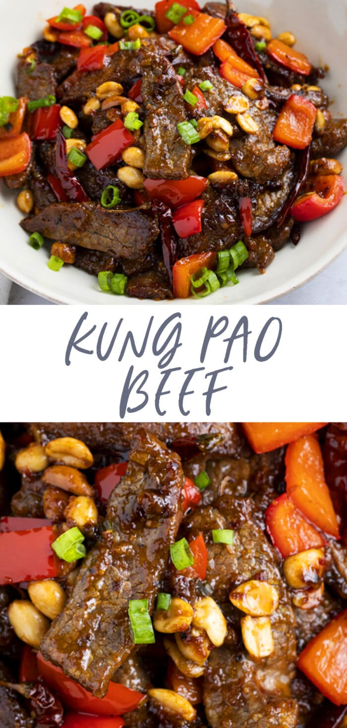 Pin graphic for kung pao beef