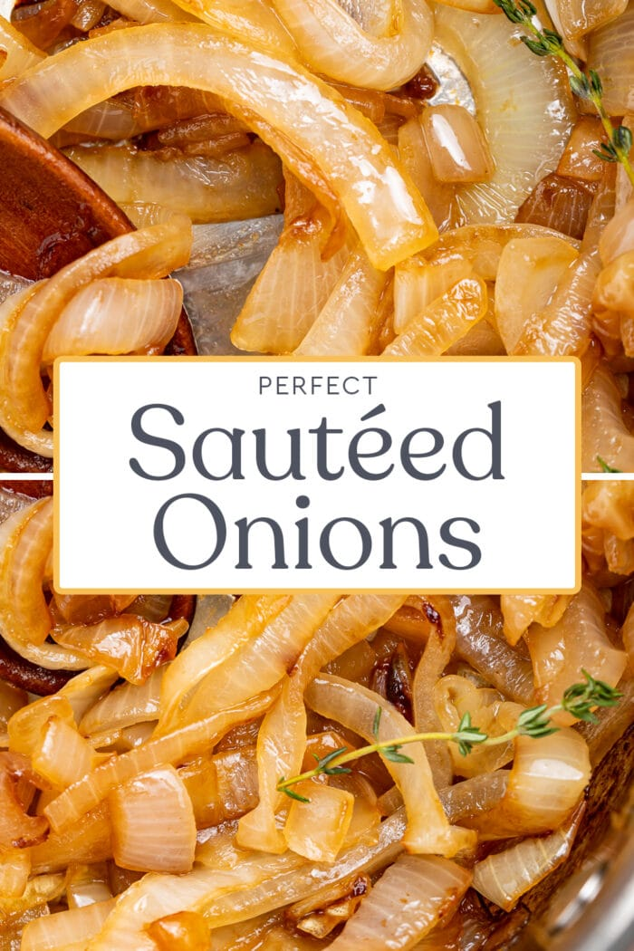 Pin graphic for sauteed onions